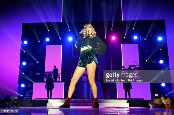Taylor Swift performs on stage during day two of Capital's Jingle Bell Ball with CocaCola at London's O2 Arena