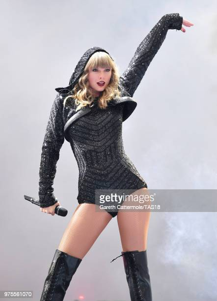 Taylor Swift performs on stage during her reputation Stadium Tour at Croke Park on June 15, 2018 in Dublin, Ireland.