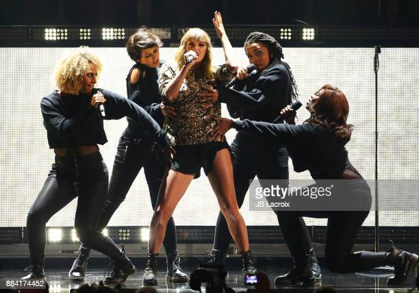 Taylor Swift performs on stage during the 1027 KIIS FM's Jingle Ball 2017 on December 01 2017 in Los Angeles California
