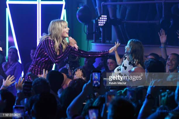 Taylor Swift performs onstage as Taylor Swift Dua Lipa SZA and Becky G perform at The Prime Day concert presented by Amazon Music at on July 10 2019...
