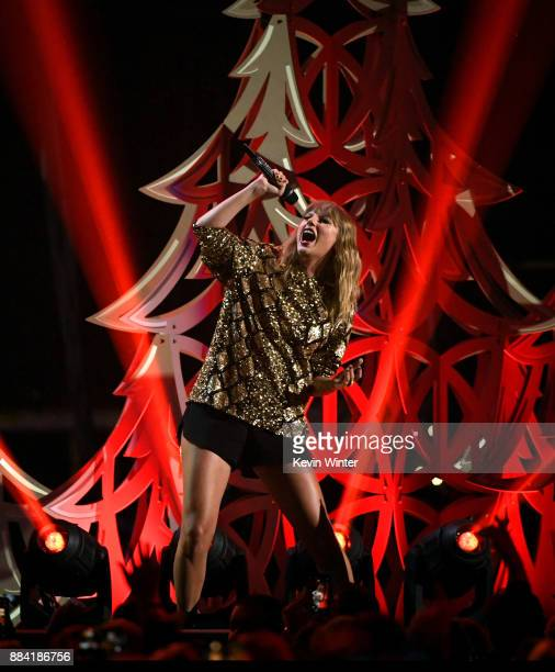 Taylor Swift performs onstage during 1027 KIIS FM's Jingle Ball 2017 presented by Capital One at The Forum on December 1 2017 in Inglewood California