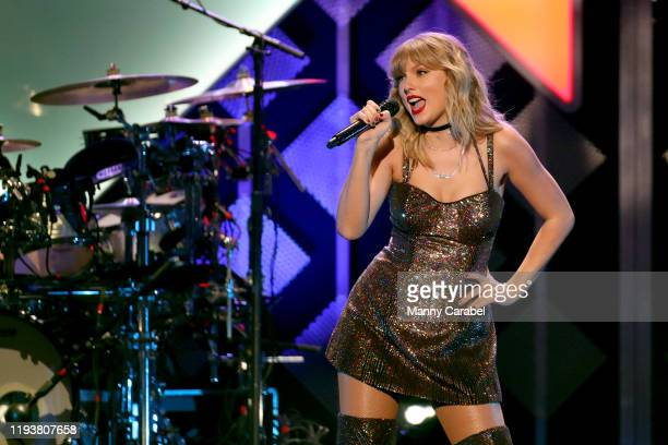 Taylor Swift performs onstage during iHeartRadio's Z100 Jingle Ball 2019 at Madison Square Garden on December 13 2019 in New York City