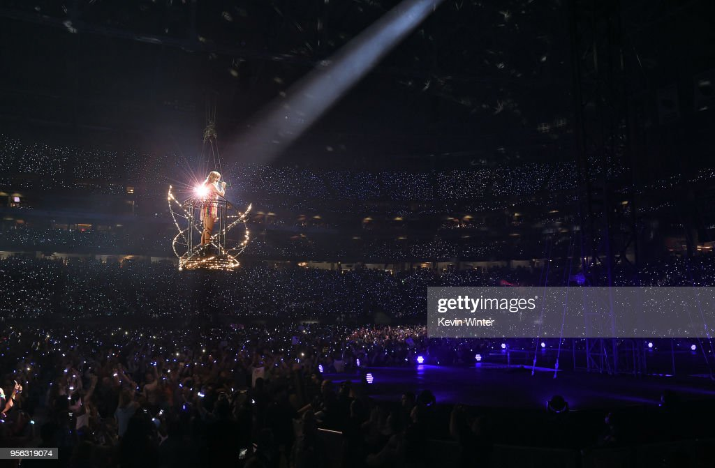 Taylor Swift performs onstage during opening night of her 2018 Reputation Stadium Tour at University of Phoenix Stadium on May 8, 2018 in Glendale, Arizona.