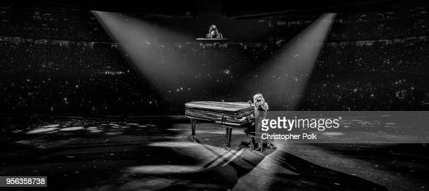 Taylor Swift performs onstage during opening night of Taylor Swift's 2018 Reputation Stadium Tour at University of Phoenix Stadium on May 8, 2018 in...