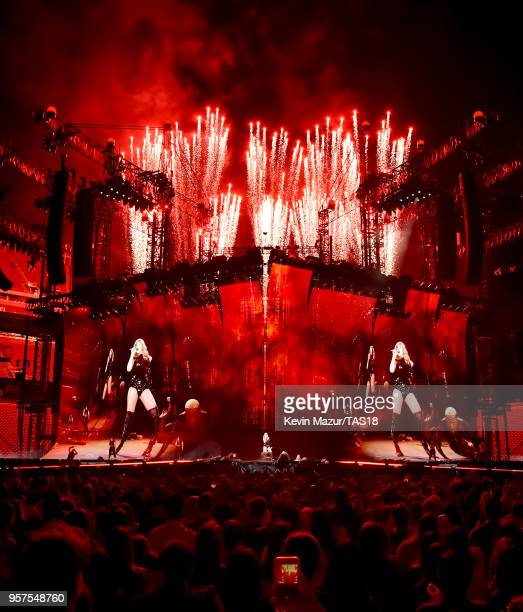 Taylor Swift performs onstage during Taylor Swift reputation Stadium Tour at Levi's Stadium on May 11 2018 in Santa Clara California