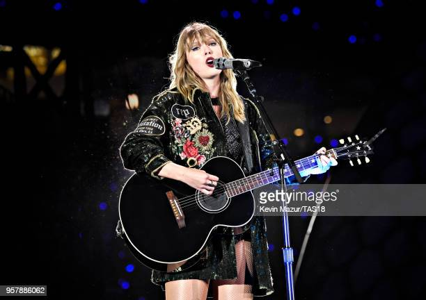 Taylor Swift performs onstage during Taylor Swift reputation Stadium Tour at Levi's Stadium on May 12 2018 in Santa Clara California