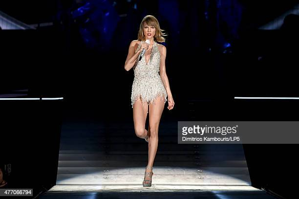 Taylor Swift performs onstage during The 1989 World Tour on June 13 2015 at Lincoln Financial Field in Philadelphia Pennsylvania