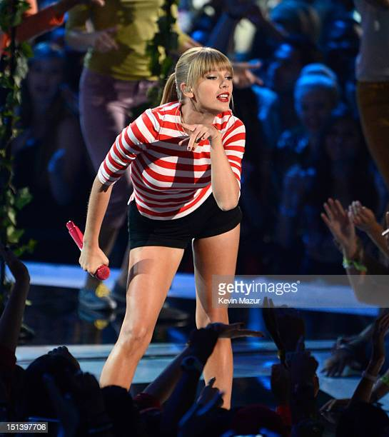 Taylor Swift performs onstage during the 2012 MTV Video Music Awards at Staples Center on September 6 2012 in Los Angeles California