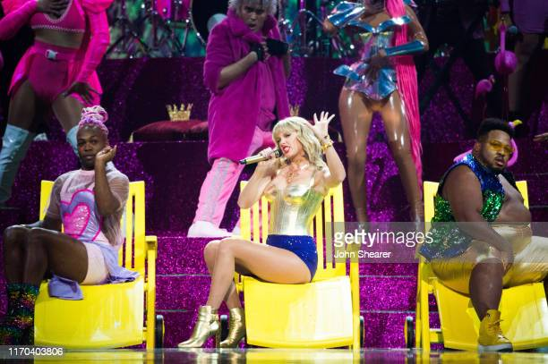 Taylor Swift performs onstage during the 2019 MTV Video Music Awards at Prudential Center on August 26 2019 in Newark New Jersey