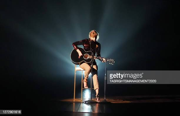 Taylor Swift performs onstage during the 55th Academy of Country Music Awards at the Grand Ole Opry in Nashville, Tennessee. The ACM Awards airs on...