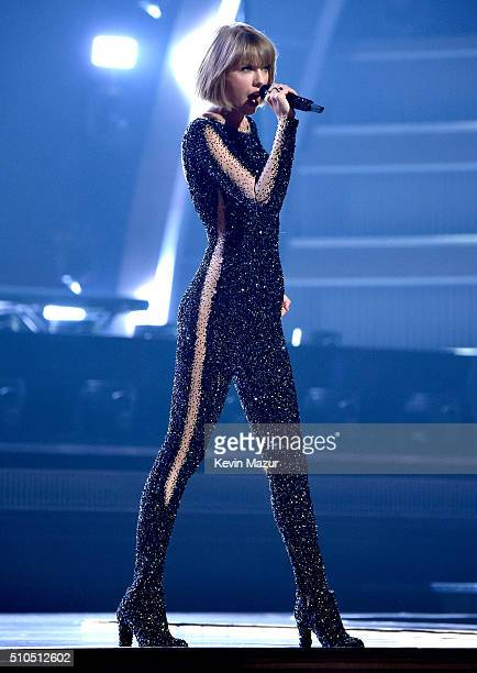 Taylor Swift performs onstage during The 58th GRAMMY Awards at Staples Center on February 15 2016 in Los Angeles California