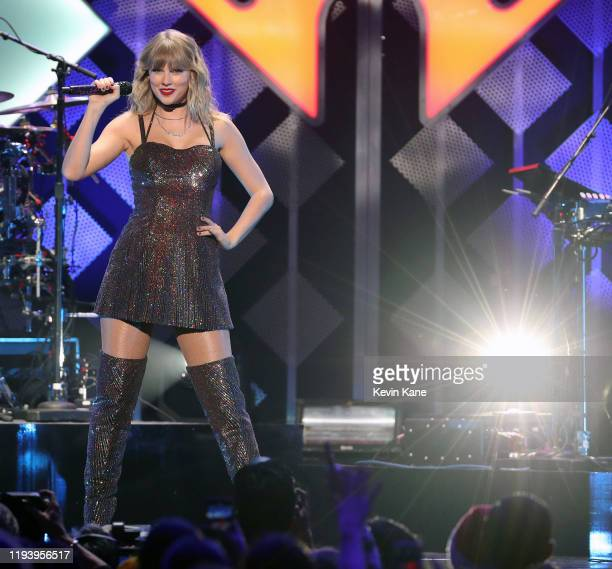 Taylor Swift performs onstage during the iHeartRadio's Z100 Jingle Ball 2019 at Madison Square Garden on December 13, 2019 in New York City.