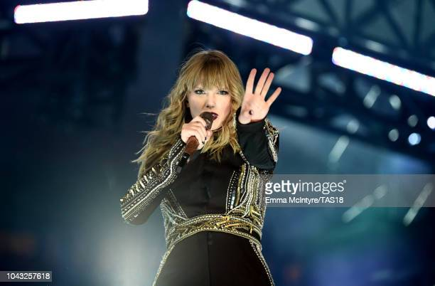 Taylor Swift performs onstage during the reputation Stadium Tour at NRG Stadium on September 29 2018 in Houston Texas