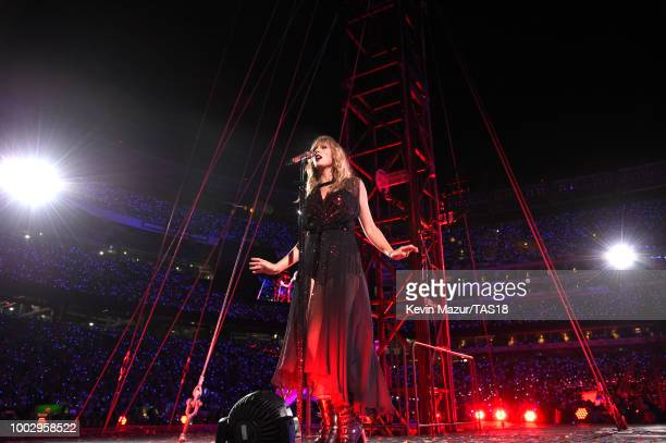Camila Cabello performs onstage during the Taylor Swift reputation Stadium Tour at MetLife Stadium on July 20 2018 in East Rutherford New Jersey