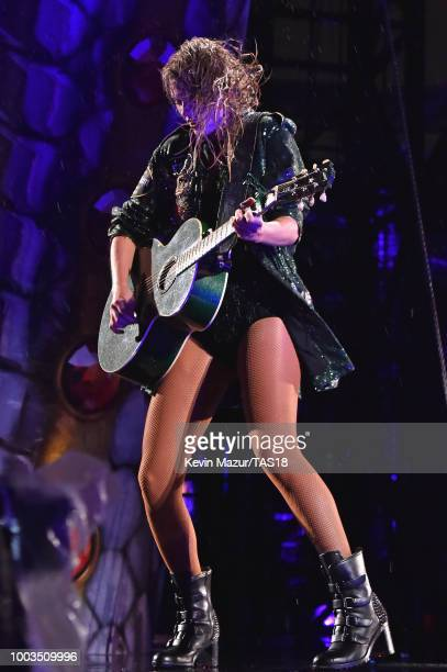 Camila Cabello performs onstage during the Taylor Swift reputation Stadium Tour at MetLife Stadium on July 22 2018 in East Rutherford New Jersey