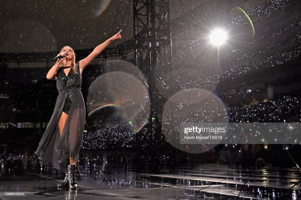 Taylor Swift performs onstage during the Taylor Swift reputation Stadium Tour at MetLife Stadium on July 21, 2018 in East Rutherford, New Jersey.
