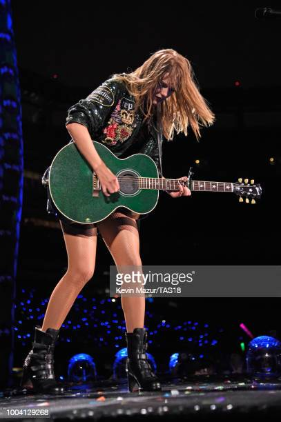 Taylor Swift performs onstage during the Taylor Swift reputation Stadium Tour at MetLife Stadium on July 22 2018 in East Rutherford New Jersey