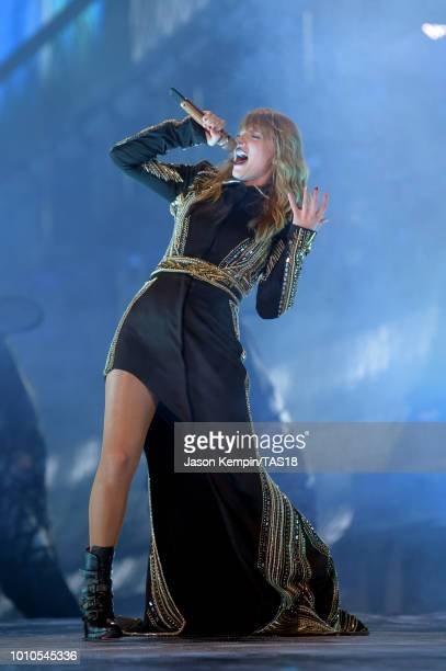 Taylor Swift performs onstage during the Taylor Swift reputation Stadium Tour at Rogers Centre on August 3 2018 in Toronto Canada