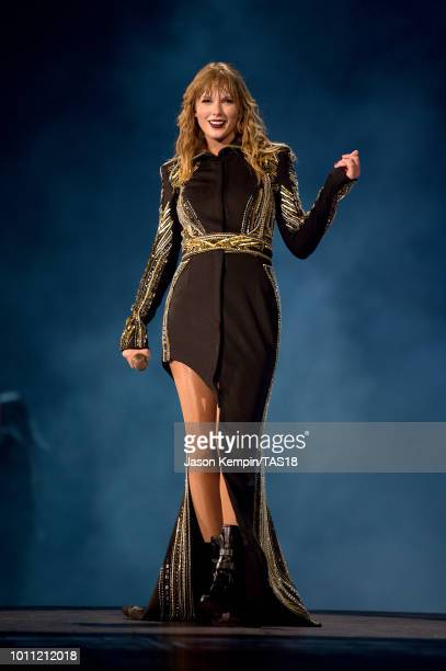 Taylor Swift performs onstage during the Taylor Swift reputation Stadium Tour at Rogers Centre on August 4 2018 in Toronto Canada