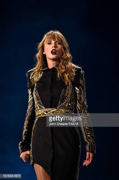 Taylor Swift performs onstage during the Taylor Swift reputation Stadium Tour at MercedesBenz Stadium on August 11 2018 in Atlanta Georgia