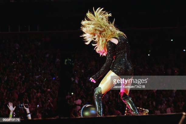 Taylor Swift performs onstage during the Taylor Swift reputation Stadium Tour at FedExField on July 10, 2018 in Landover, Maryland.