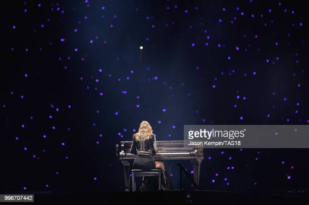 Taylor Swift performs onstage during the Taylor Swift reputation Stadium Tour at FedExField on July 11, 2018 in Landover, Maryland.