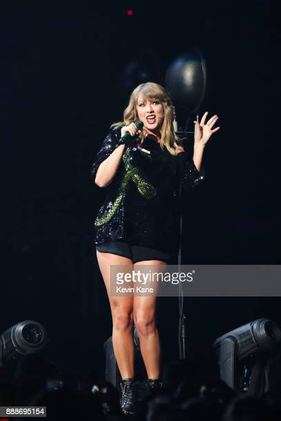 Taylor Swift performs onstage during Z100's iHeartRadio Jingle Ball 2017 at Madison Square Garden on December 8 2017 in New York City