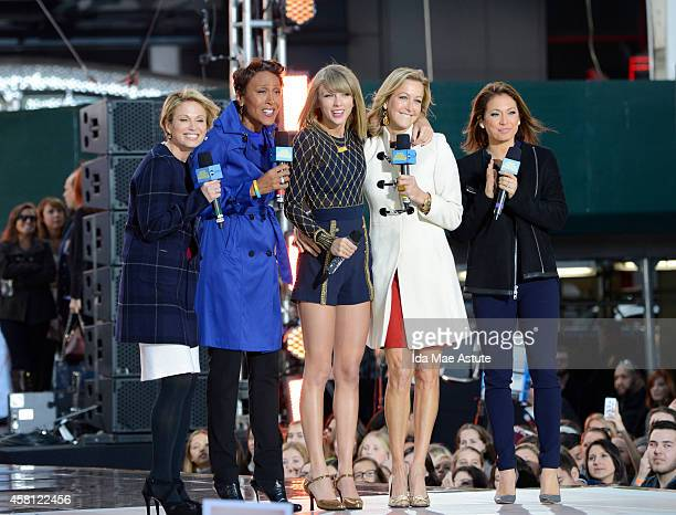 Taylor Swift performs outdoors in Times Square on GOOD MORNING AMERICA, 10/30/14, airing on the Walt Disney Television via Getty Images Television...