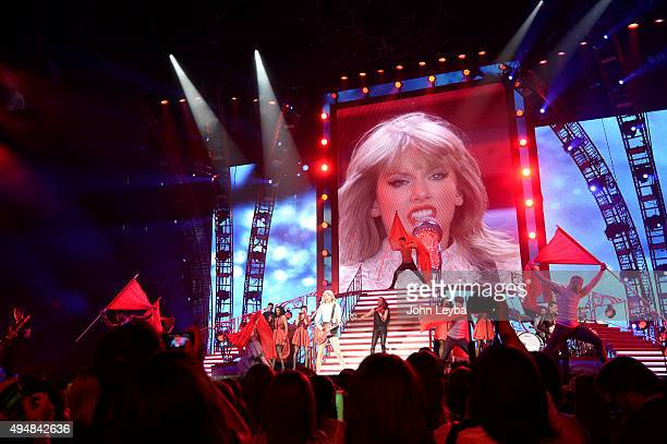 Taylor Swift performs to a sold out crowd June 2 2013 during her Red Tour stop in Denver at Pepsi Center