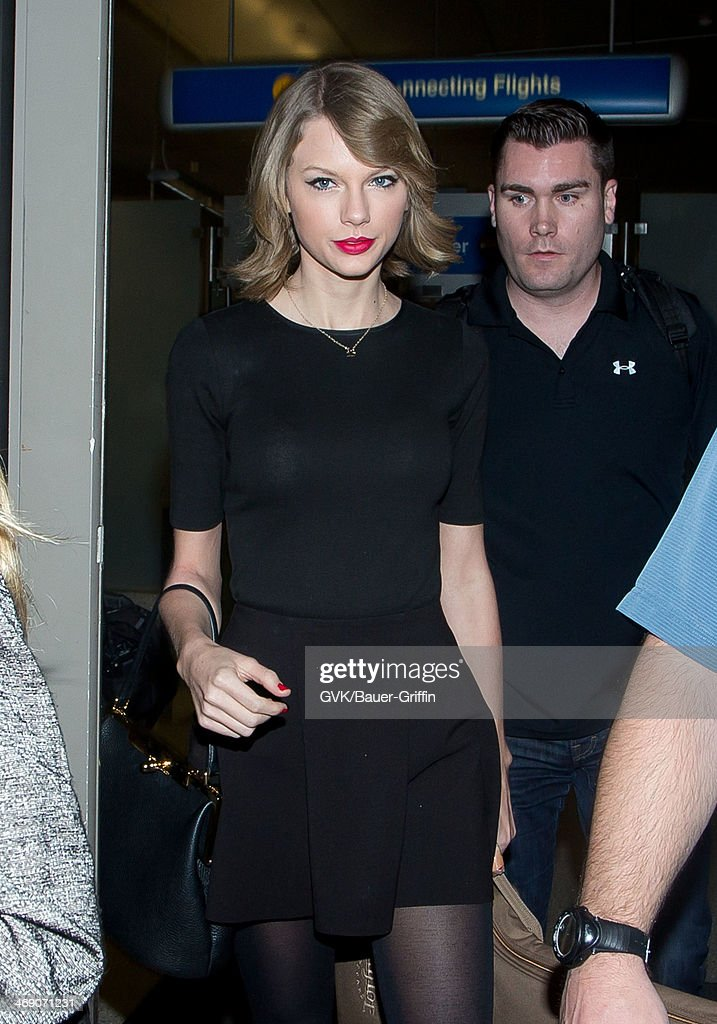 Taylor Swift seen at LAX airport on February 12, 2014 in Los Angeles, California.