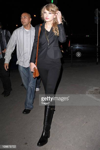 Taylor Swift sighting in Paris as she arrives at Hotel Georges 5 on October 18 2010 in Paris France