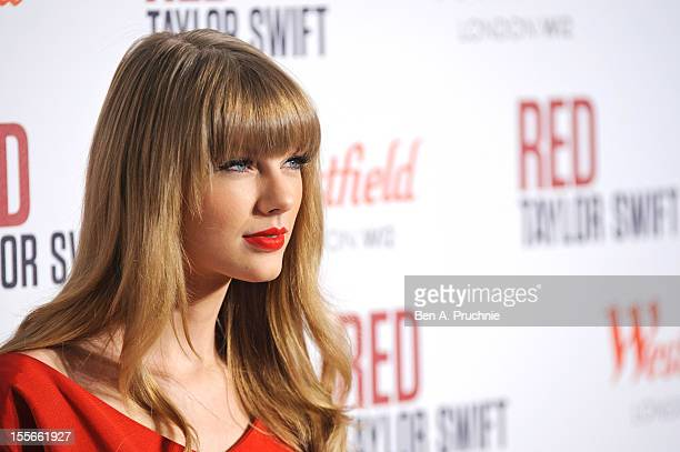 Taylor Swift switches on the christmas lights at Westfield London White City/Shepherd's Bush on November 6 2012 in London England