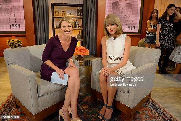 AMERICA Taylor Swift talks to Amy Robach about the debut of her new pop album on GOOD MORNING AMERICA 8/19/14 airing on the Walt Disney Television...