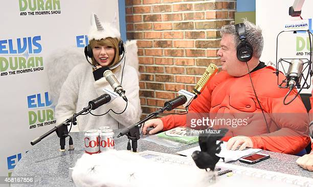 Taylor Swift visits The Elvis Duran Z100 Morning Show at Z100 Studio on October 31 2014 in New York City