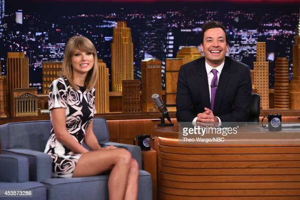 Taylor Swift visits 'The Tonight Show Starring Jimmy Fallon' at Rockefeller Center on August 13 2014 in New York City