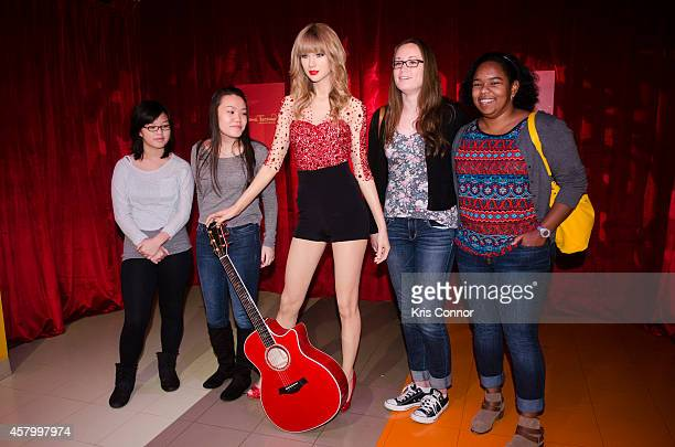 Taylor Swift Wax Figure unveiling at Madame Tussauds on October 28 2014 in Washington DC