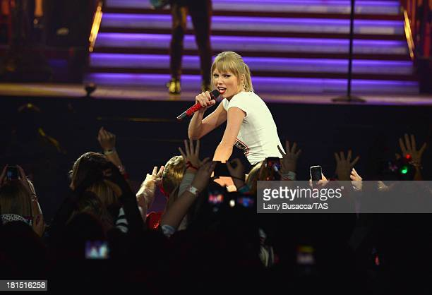 Taylor Swift wears a Country Music Hall of Fame tshirt as she wraps the North American portion of her RED tour playing to a crowd of more than 14000...