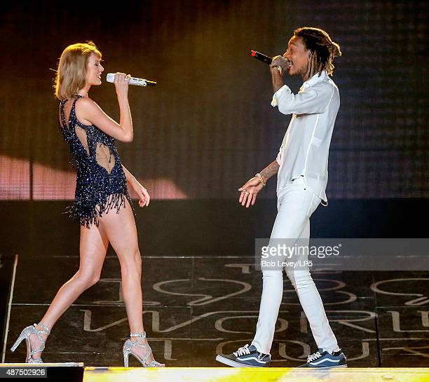 Taylor Swift with special guest Wiz Khalifa at The 1989 World Tour Live In Houston at Minute Maid Park on September 9 2015 in Houston Texas