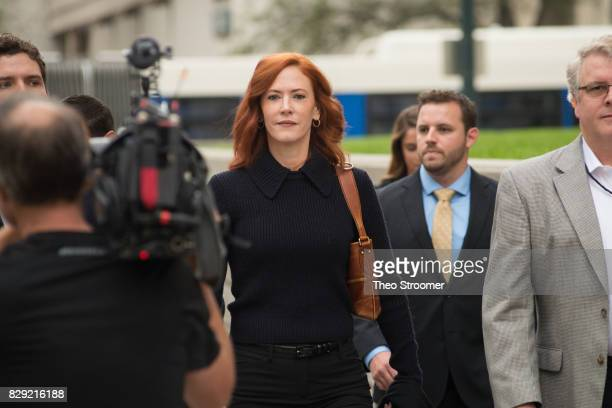 Taylor Swift's publicist Tree Paine arrives for the civil case for Taylor Swift vs David Mueller at the Alfred A Arraj Courthouse on August 10 2017...