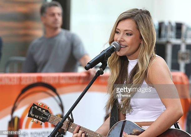 Taylor Tae Dye of Maddie Tae performs on NBC's Today Show at Rockefeller Plaza on September 1 2015 in New York City