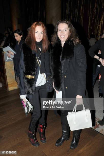 Taylor Tomasi Hill and Rae Ann Herman attend DEREK LAM Fall 2010 Collection at Capitale on February 16 2010 in New York City