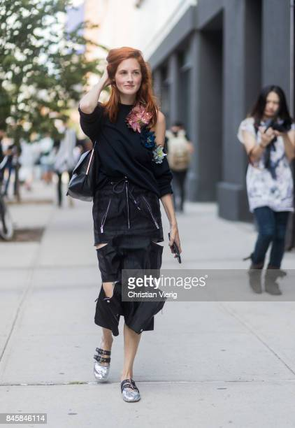Taylor Tomasi Hill seen in the streets of Manhattan outside Phillip Lim during New York Fashion Week on September 11 2017 in New York City