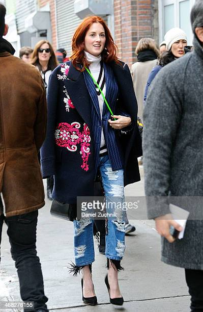 Taylor Tomasi-Hill is seen outside the Thakoon show on February 9, 2014 in New York City.