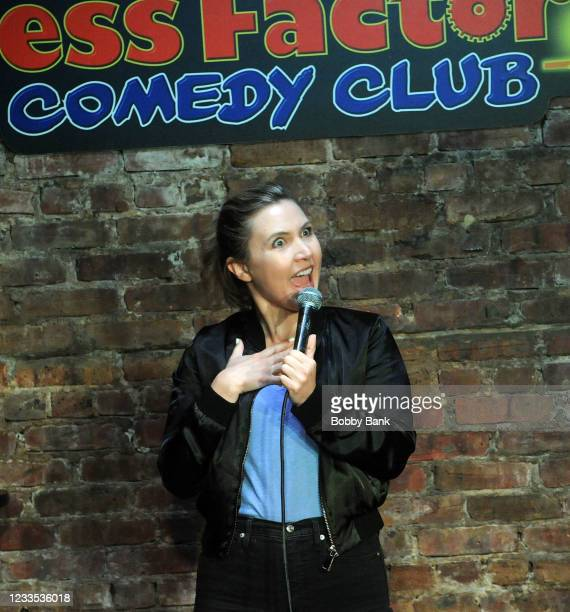 Taylor Tomlinson performs at The Stress Factory Comedy Club on June 18, 2021 in New Brunswick, New Jersey.