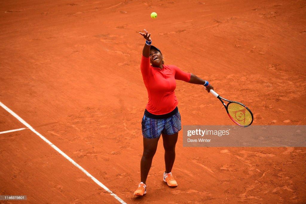 FRA: Inauguration of the new court of Roland Garros - Simone Mathieu