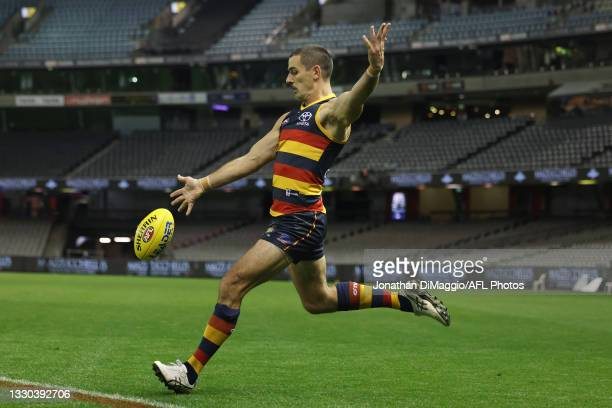 Taylor Walker of the Crows in action during the round 20 AFL match between Adelaide Crows and Hawthorn Hawks at Marvel Stadium on July 24, 2021 in...