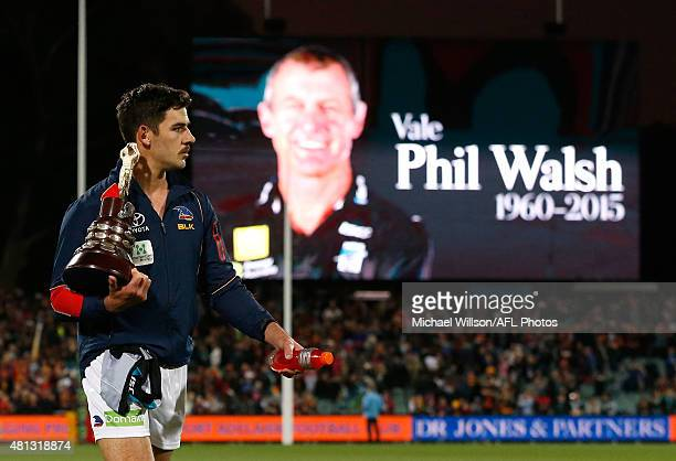 Taylor Walker of the Crows walks from the field after the 2015 AFL round 16 match between Port Adelaide Power and the Adelaide Crows at the Adelaide...