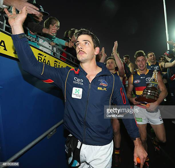 Taylor Walker of the Crows walks from the field after the round 16 AFL match between the Port Adelaide Power and the Adelaide Crows at Adelaide Oval...