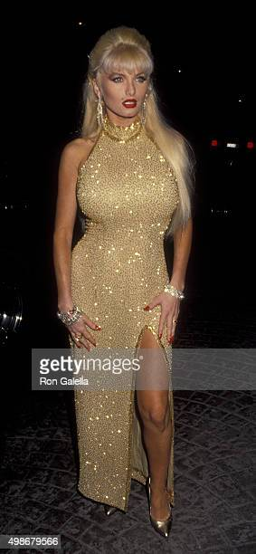 Taylor Wane attends Amber Lynn Birthday Party Benefit for AIDS on September 2 1992 at the Bel Age Hotel in West Hollywood California
