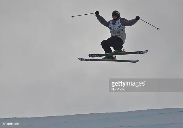 Taylor Wilson from Canada during Men's Ski Slopestyle Heat 1 qualification round at FIS Freestyle World SKI CHampionships 2015 in Kreischberg Austria...